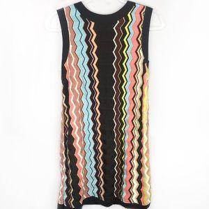 Missoni Chevron Sleevless Sweater Dress